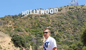Hollywood skylten i Los Angeles