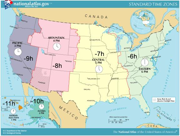 karta australien västkust Tidszoner i USA karta australien västkust