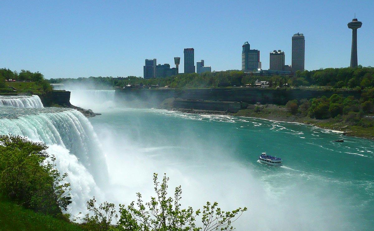 niagarafallen karta Niagarafallen i USA och Kanada niagarafallen karta