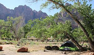 Camping i Zion