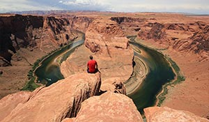 Horseshoe bend i Utah