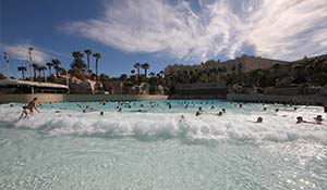 Poolen på Mandalay Bay i Las Vegas